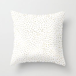 Dotted Gold Throw Pillow