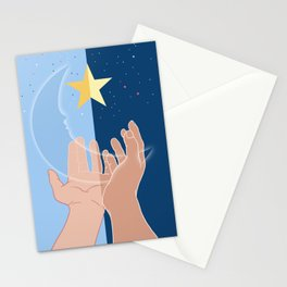 The moon and the stars for you-Fantasy-Surreal Stationery Cards