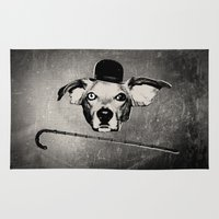 charlie chaplin Area & Throw Rugs featuring THE BUDDIE x CHARLIE CHAPLIN by The Buddie