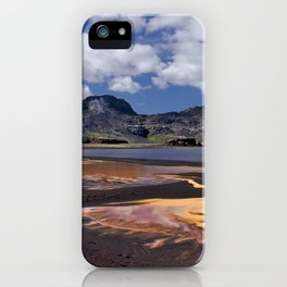 Iceland volcanic mountains at summer day iPhone Case