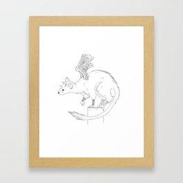 Curious Trico Framed Art Print