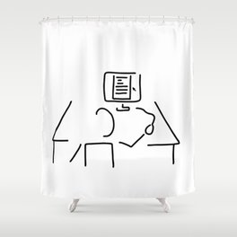 editor technical author script writer Shower Curtain