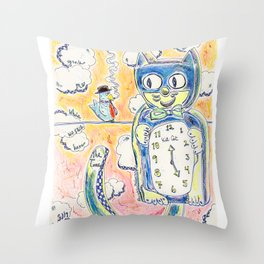 Grab Me While We Still Have The Time Throw Pillow