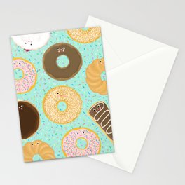 Donuts! Cute and yummy donut friends. Stationery Cards