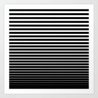 Line Gradient Art Print
