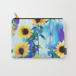 Sunflower Sky Carry-All Pouch