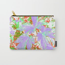 GERANIUM LEAVES SILVER/MULTI Carry-All Pouch