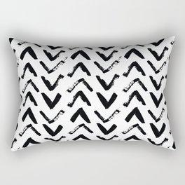 Black & White Mud Cloth Inspired Arrows Rectangular Pillow