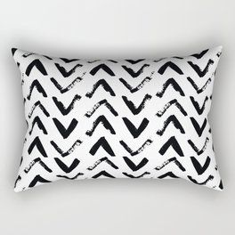 Black & White Mud Cloth Inspired Arrows Rectangular Pillow