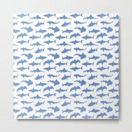 Sharks in Danube Blue Metal Print