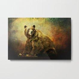 Grizzly Bear in Morning Sun Metal Print
