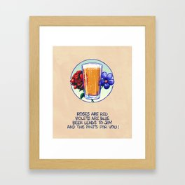 Ode To Beer Framed Art Print