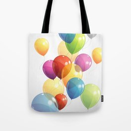 Colorful Balloons Tote Bag