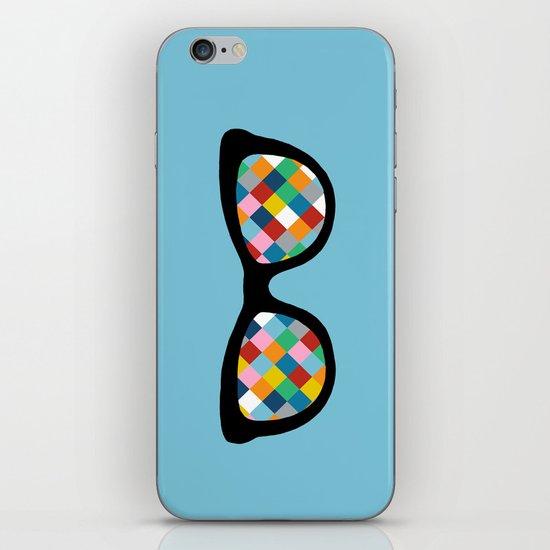 Diamond Eyes on Blue iPhone Skin