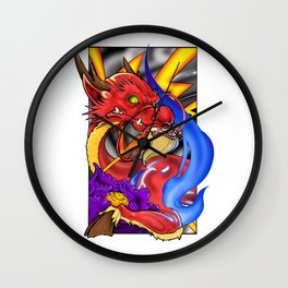 Neotraditional style Kirin Wall Clock