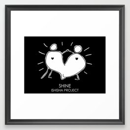SHINE by ISHISHA PROJECT Framed Art Print
