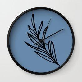 Feeling of lightness III - Steel Blue Wall Clock