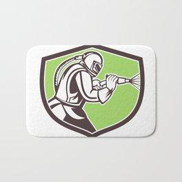 Abrasive Blasting Mascot Crest Bath Mat