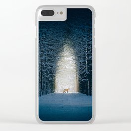 Lady into Fox Clear iPhone Case