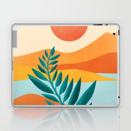 Mountain Sunset / Abstract Landscape Illustration Laptop & iPad Skin