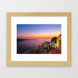 Sunset in Oia,Santorini Framed Art Print