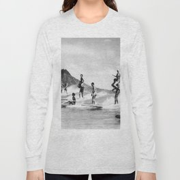Vintage Hawaii Tandem Surfing Long Sleeve T-shirt