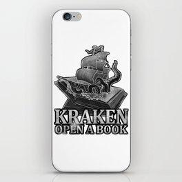 Kraken Open a Book iPhone Skin