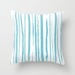 blue streaky pattern Throw Pillow