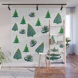 Christmas trees Wall Mural