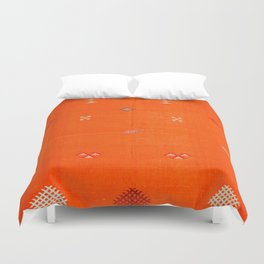Traditional Anthropologie Moroccan orange Artwork. Art Print Duvet Cover