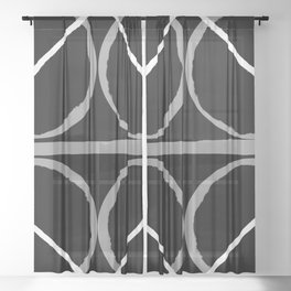 Geometric Unity Centered in a Circle Sheer Curtain