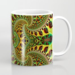 Psychedelic Fractal Geometry - different perspective Coffee Mug