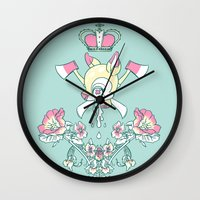 kendrawcandraw Wall Clocks featuring King Bambi by kendrawcandraw