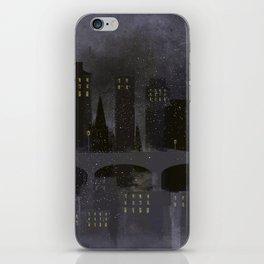 Edinburgh by night iPhone Skin