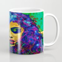 selena Mugs featuring Selena (pop) by    Amy Anderson