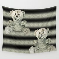 teddy bear Wall Tapestries featuring Teddy Bear by Bronze Moon