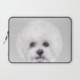 Bichon illustration, Dog illustration original painting print Laptop Sleeve