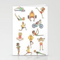 gym Stationery Cards featuring Gym Buddies by Sid's Shop