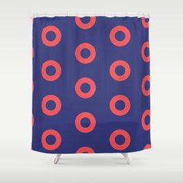 Fishman Donuts Shower Curtain