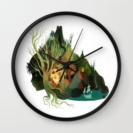 Neverland State of Mind Wall Clock