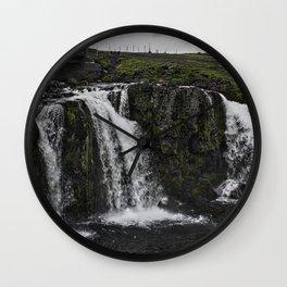 Kirkjufellsfoss Waterfall Upper Fall Wall Clock