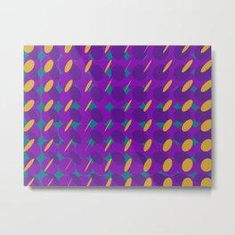 elipse grid pattern_purple,mustard02 Metal Print