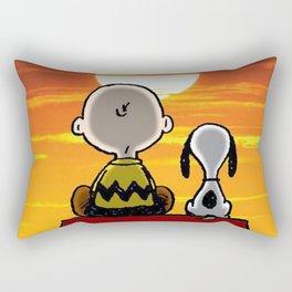 sunset carly snoopy Rectangular Pillow