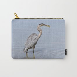 Great Blue Heron Fishing - II Carry-All Pouch