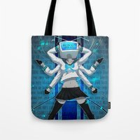 vocaloid Tote Bags featuring What the hell's going on?! by Helixel