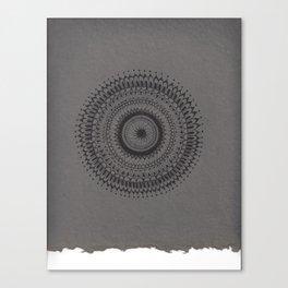Tiny Detail Mandala Canvas Print