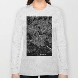 Rotterdam Black Map Long Sleeve T-shirt