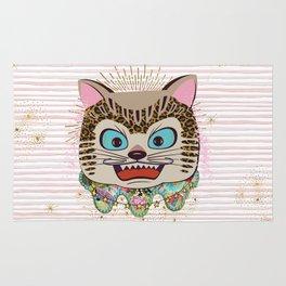 Wild cat enlightened Rug