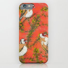 Goldfinches in Gorse iPhone Case