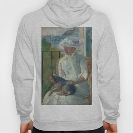 Young Girl at a Window Oil Painting by Mary Stevenson Cassatt Hoody